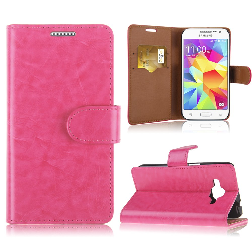 etui coque pochette cuir faux pour samsung galaxy core. Black Bedroom Furniture Sets. Home Design Ideas