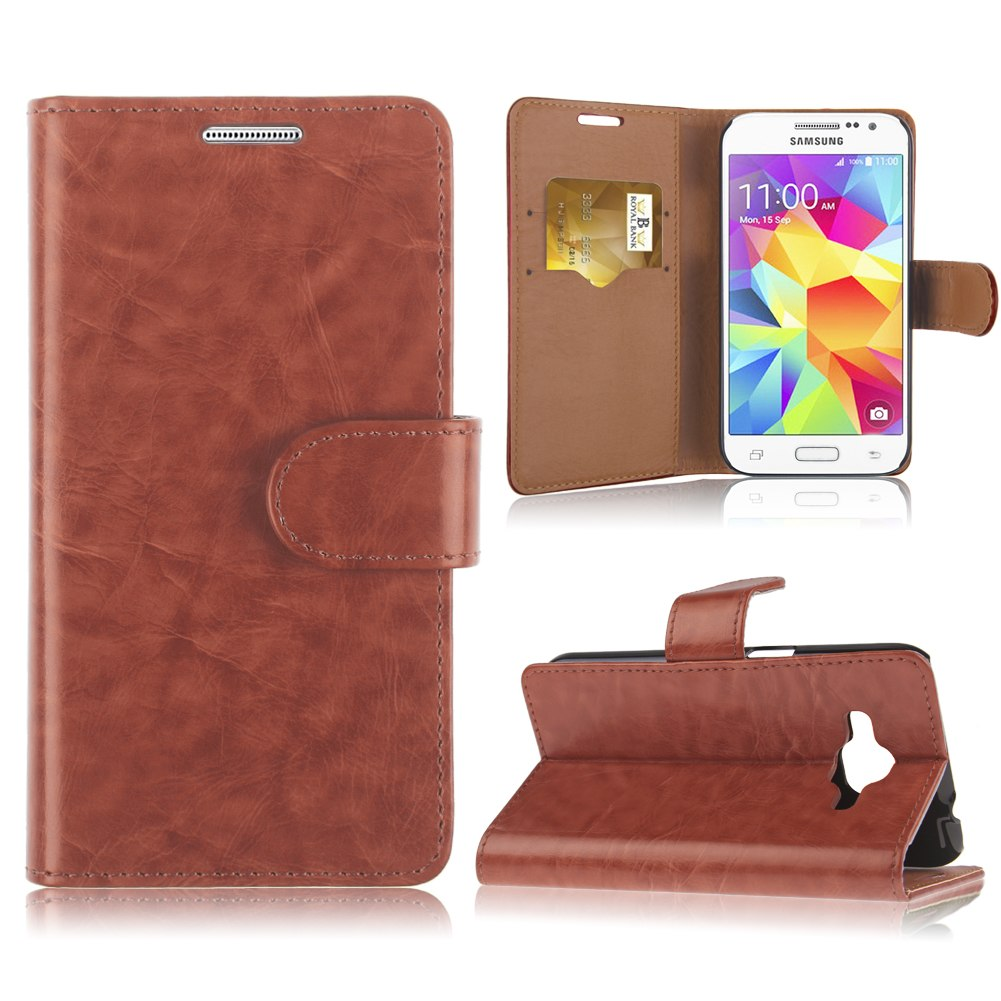 Flip Wallet Pouch Leather Stand Case Cover For Samsung Core Prime SM-G360 G3608
