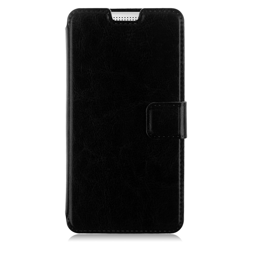 Folio Leather Case Magnetic Wallet Stand Cover w/ Card Slots For HTC Desire 510