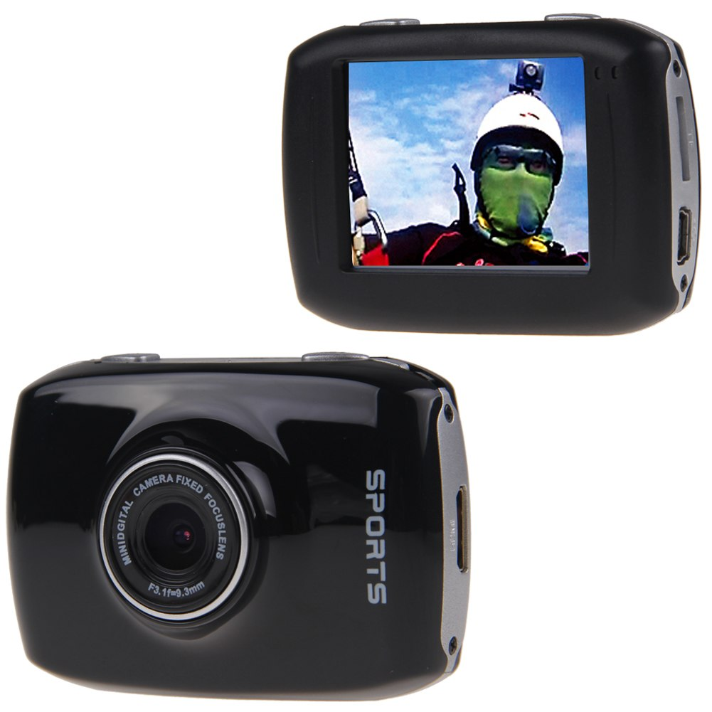 action sports camera sportscam 1080p full hd waterproof. Black Bedroom Furniture Sets. Home Design Ideas
