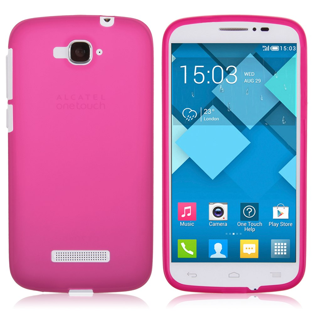 Soft tpu silicone gel case cover for alcatel one touch pop