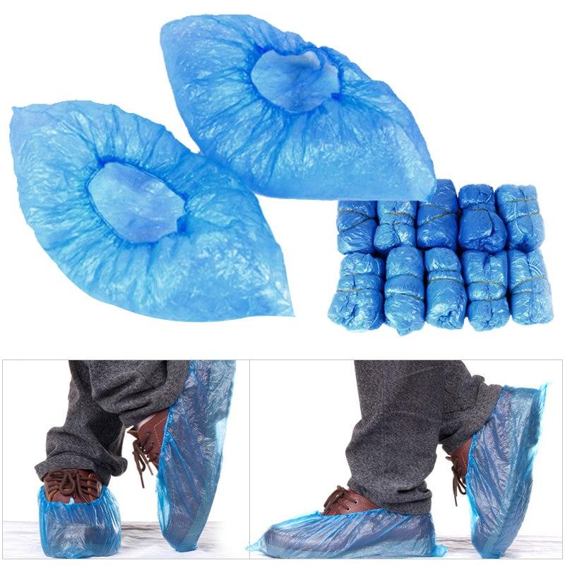Details about Lot 100PCS Disposable Shoe Covers Rain Waterproof Green