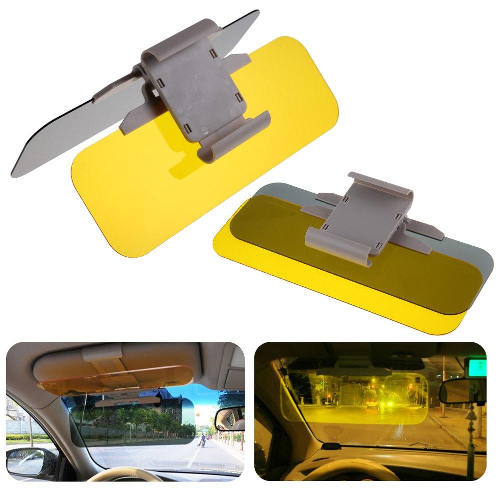 HD Car UV Anti-Glare Day /& Night Vision Universal Flip Down Shield Sun Visor