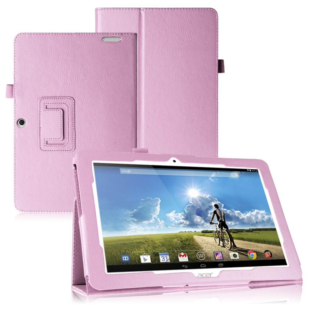 folding leatehr case cover skin stand for acer iconia tab. Black Bedroom Furniture Sets. Home Design Ideas