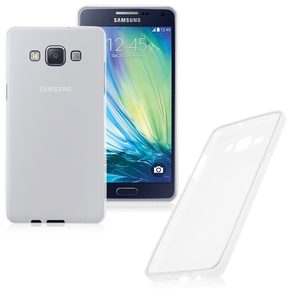 Soft TPU Silicone Clear Matte Back Case Cover For Samsung