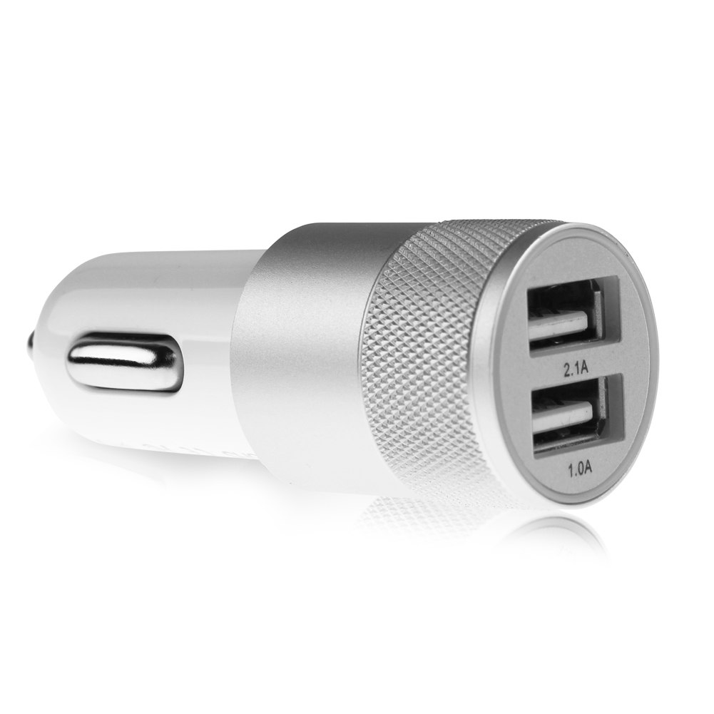 Aluminium 2-port USB Universal Car Charger For Iphone 6/6s