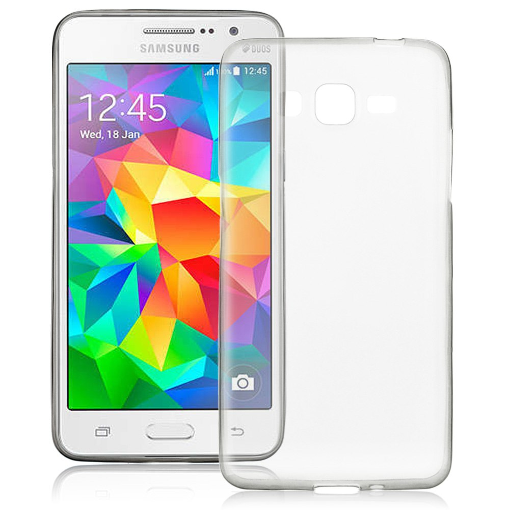 For Samsung Galaxy Grand Prime G530H G5308W Soft TPU Clear Cover Case 0.3mm THIN