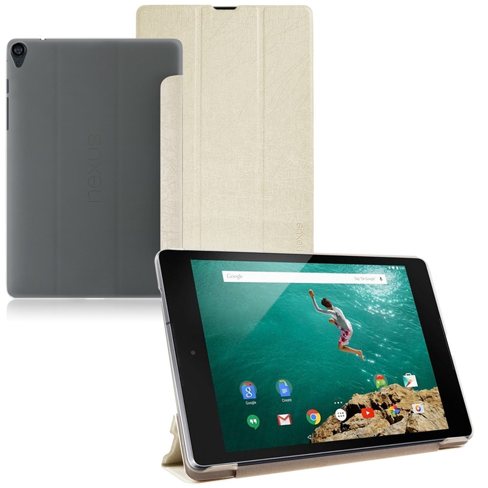 """For Google Nexus 9 8.9"""" Tablet Tri-Fold Folio Flip PU Leather Case Cover Stand"""