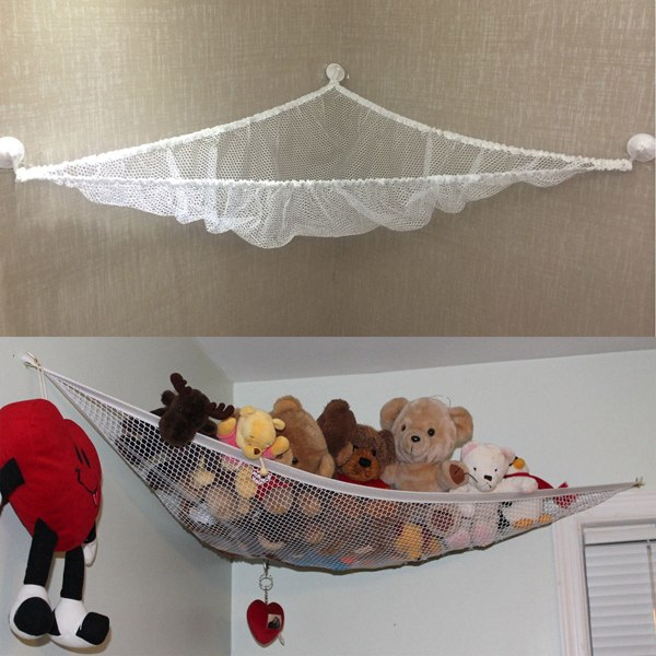 Lovely kids children hanging toy hammock net to organize for Hanging toy net