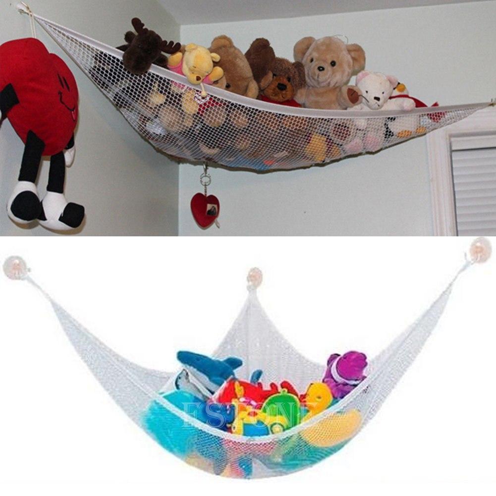 Net Toy Holder : Kids soft toy hammock mesh net teddy bear keep baby childs