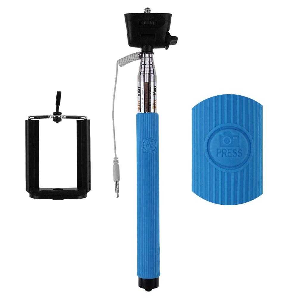 selfie stick monopod wired extendable handheld iphone6 samsung lg htc sony ne. Black Bedroom Furniture Sets. Home Design Ideas