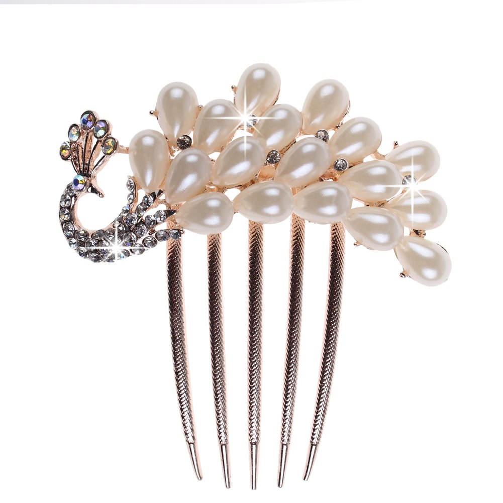hair comb peigne cheveux bijoux perles strass coiffure femme soir mariage ebay. Black Bedroom Furniture Sets. Home Design Ideas