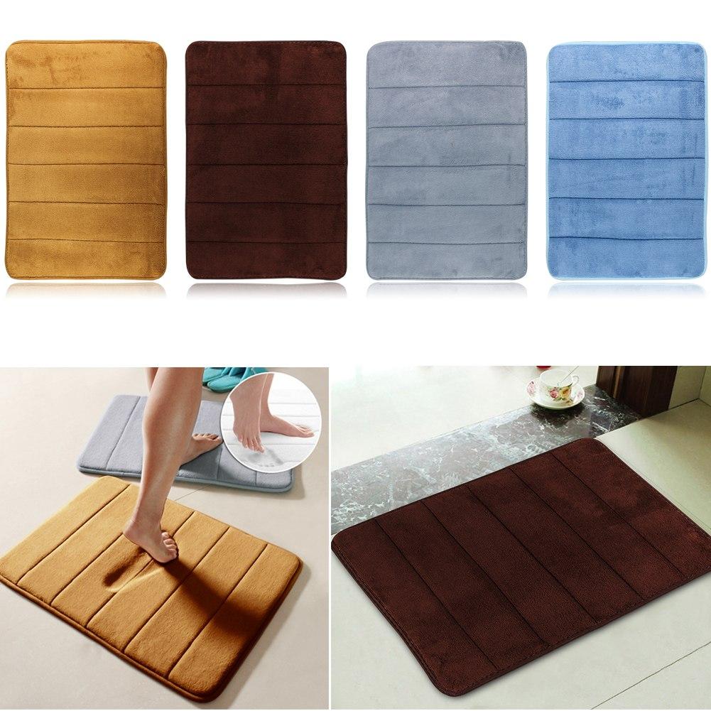 40 60cm Memory Foam Carpet Absorbent Non Slip Pad Bathroom Entrance Rugs Mats Ebay