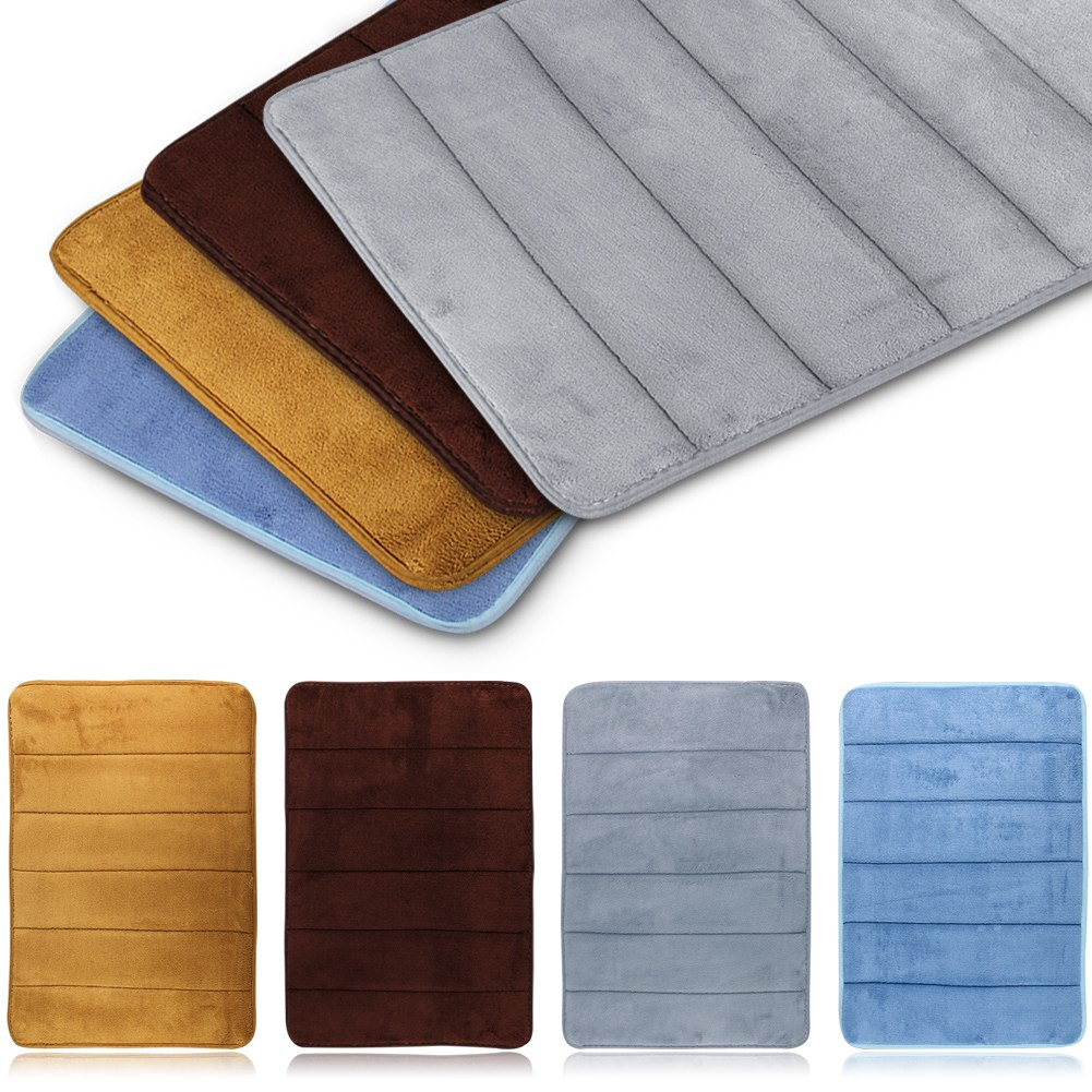 Memory Foam Carpet Absorbent Non Slip Pad Bathroom