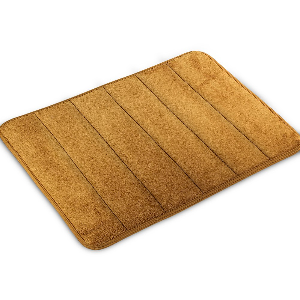 Memory Foam Bath Mat Absorbent Slip Resistant Pad Bathroom