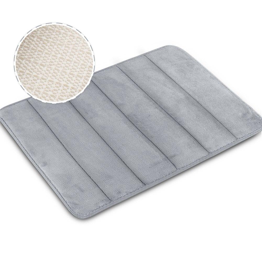 Memory Foam Bath Mat 40 60cm Absorbent Slip Resistant Pad