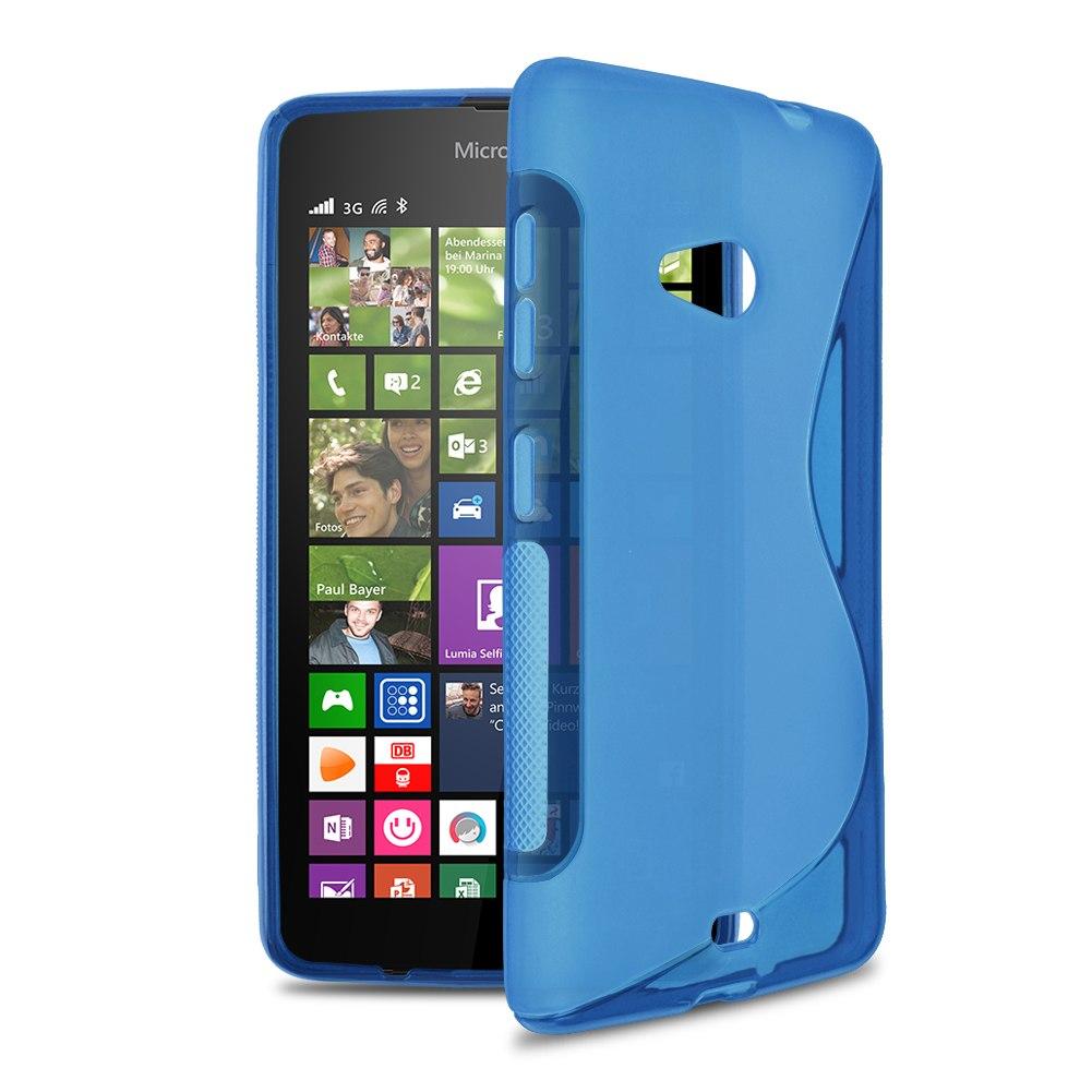 S-Line Soft Silicone Gel Case Cover Skin For Microsoft Nokia Lumia 535