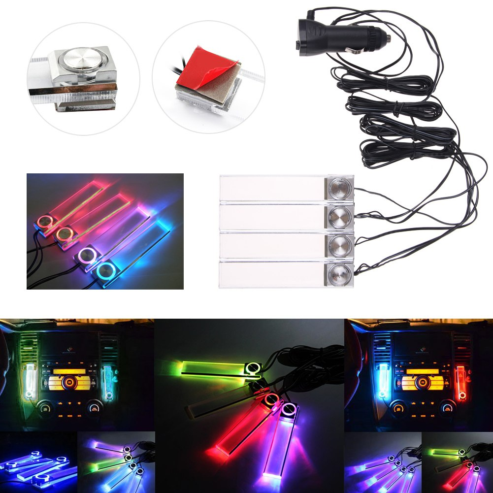 led 12v car auto interior car floor dash decorative cool rgb led lights ebay. Black Bedroom Furniture Sets. Home Design Ideas