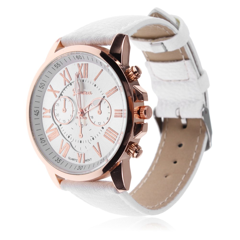Women fashion geneva quartz watches leather new sports casual dress wristwatches ebay for Watches geneva