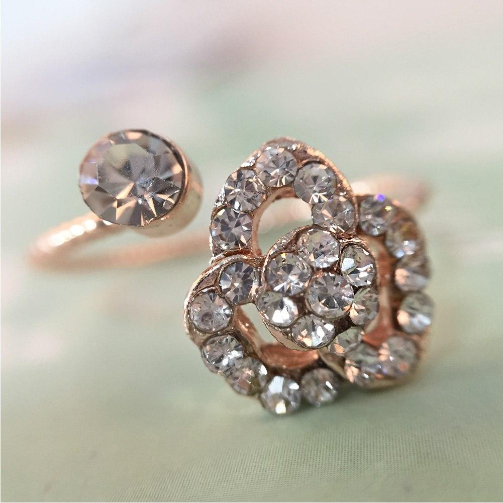 fashion women wedding rings engagement ring crystal With rhinestone wedding rings