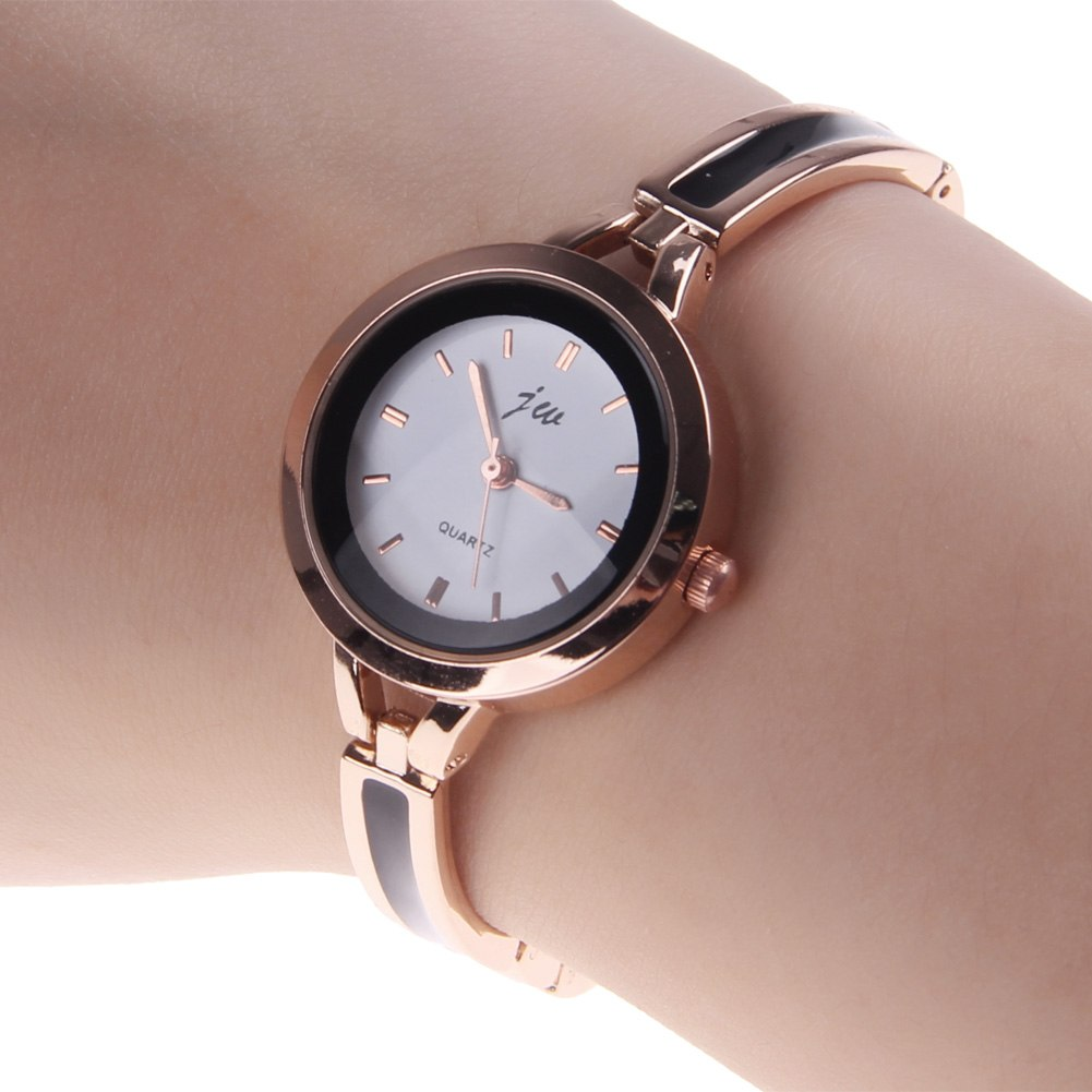 Womens Fashion Elegant Alloy Round Quartz Analog Bracelet ...