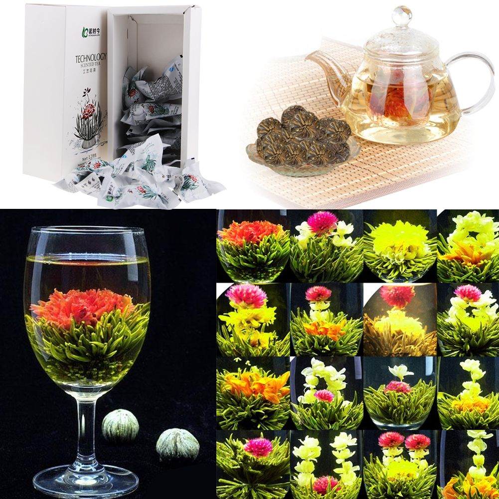 Flowering green tea