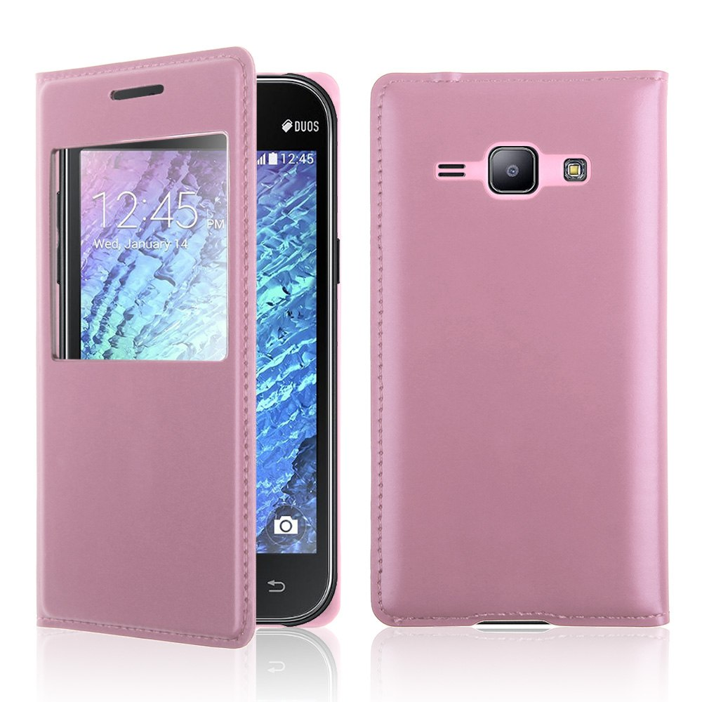 For-Samsung-Galaxy-J1-J100H-Flip-View-Vindow-Leather-Battery-Back-Case