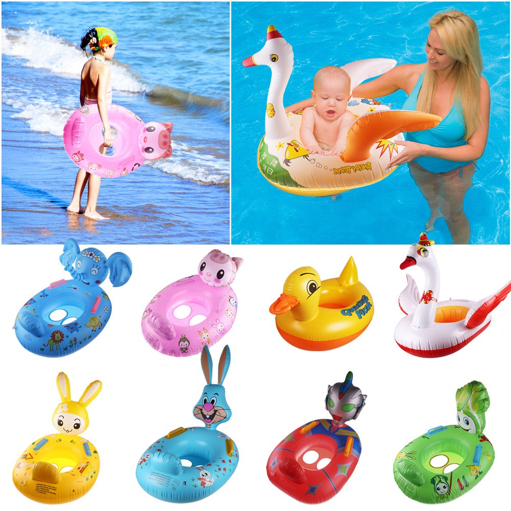 Cute cartoon inflatable safety seat float raft pool for Cute pool pictures