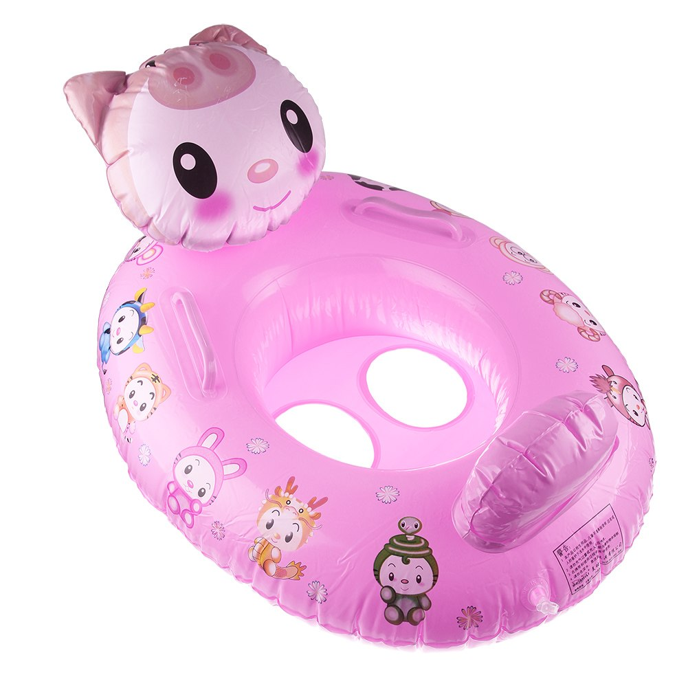Kids Baby Cartoon Designs Swimming Inflatable Aid Trainer Float Lovely Swim Ring