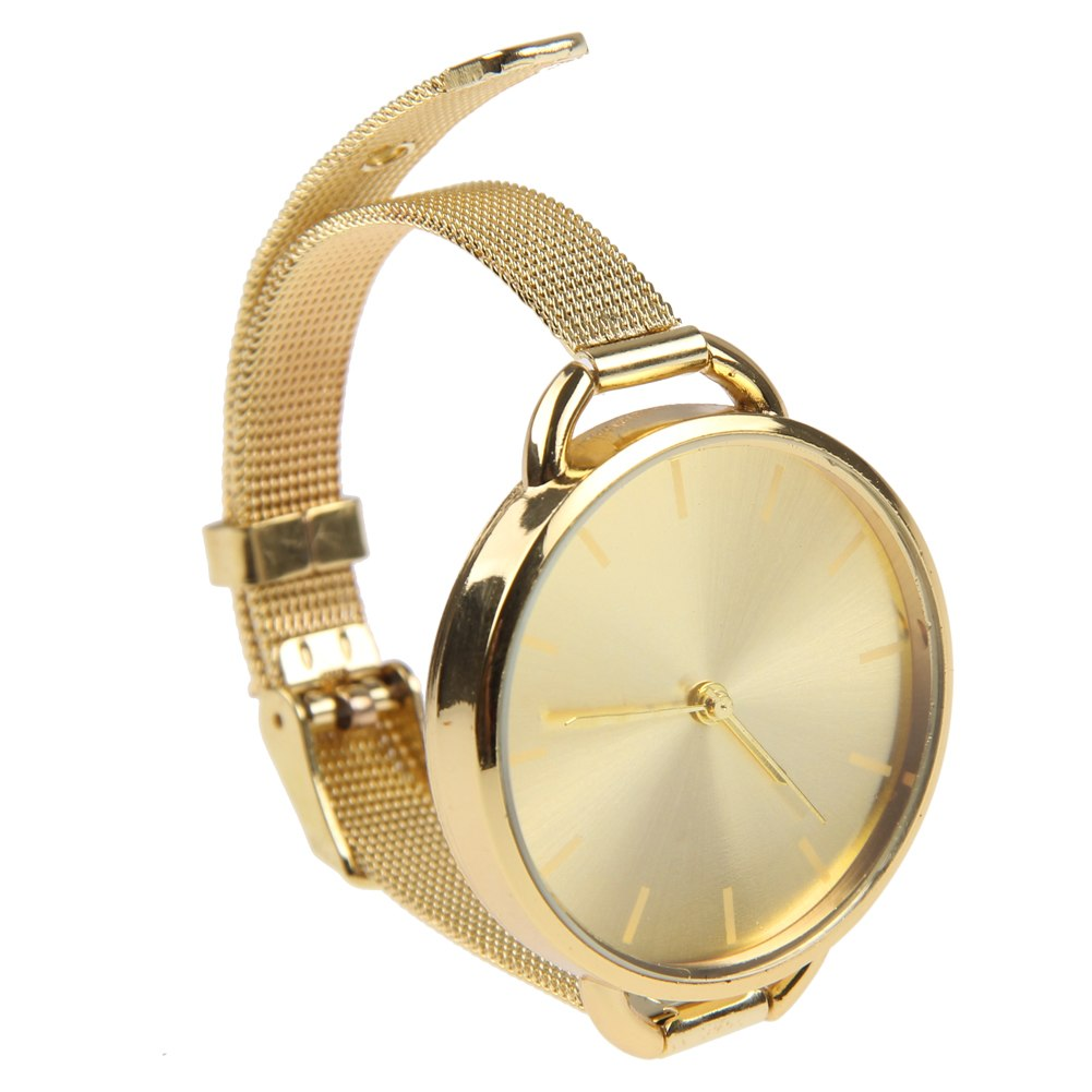 Gold Wrist Bracelet: Womens Fashion Bracelet Wrist Watch Ladies Designer Style