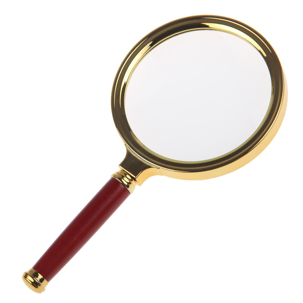 new 90mm handheld 10x magnifier magnifying glass lens