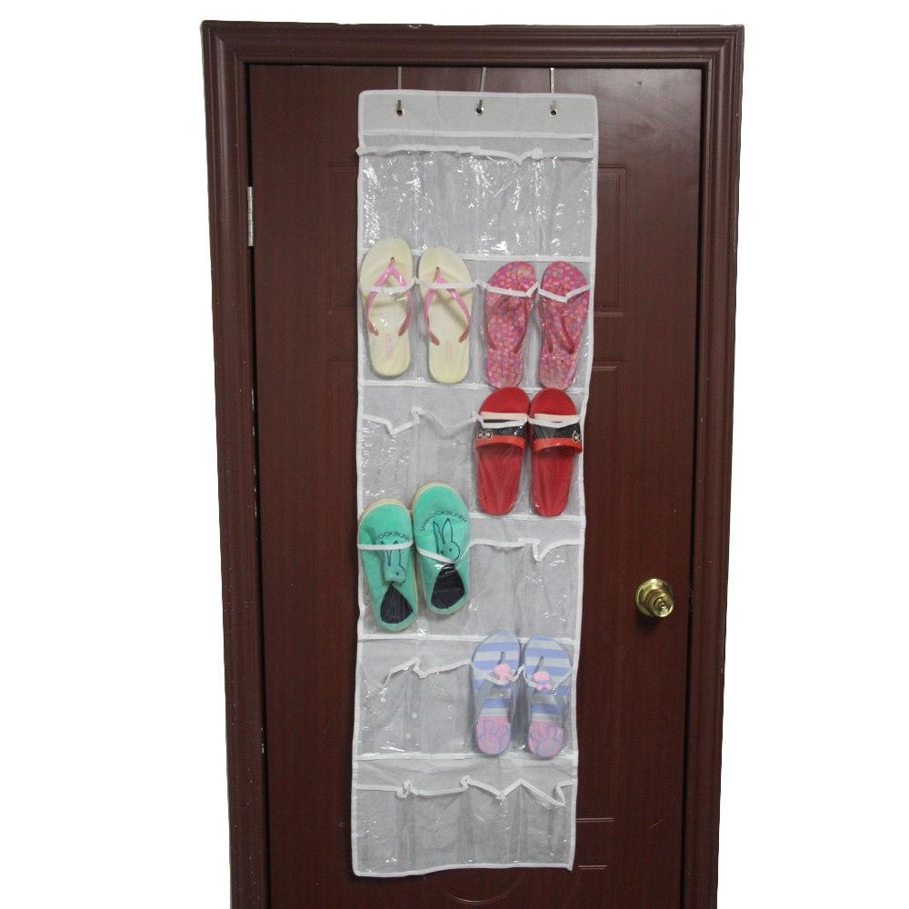 24 pocket over the door hanging holder shoe organizer rack for Room closet organizer