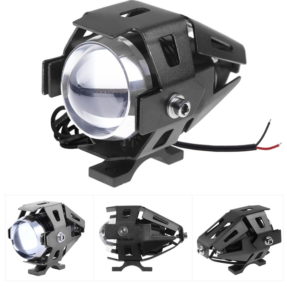 details about motorcycle led running light kit 125w fog spot work lamp. Black Bedroom Furniture Sets. Home Design Ideas