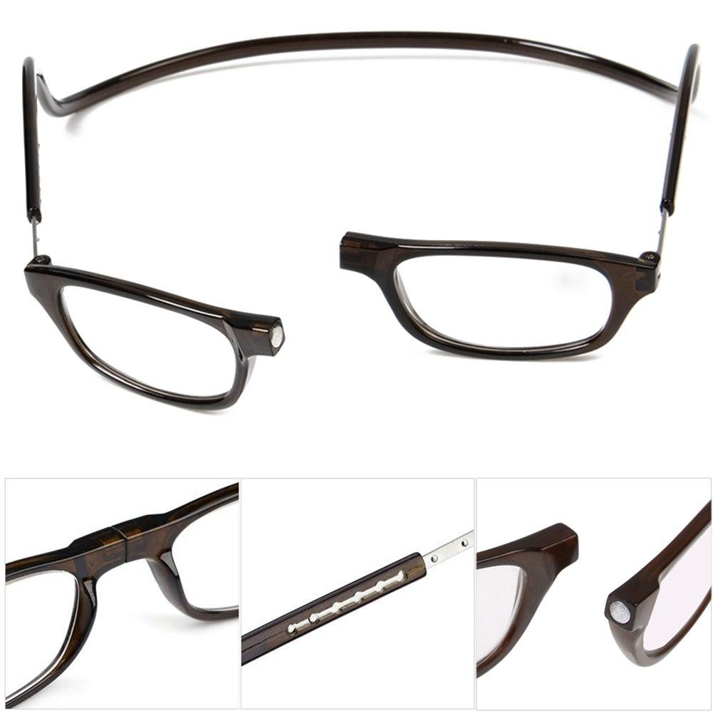 unisex magnetic power reading glasses folded hang 1 1 5