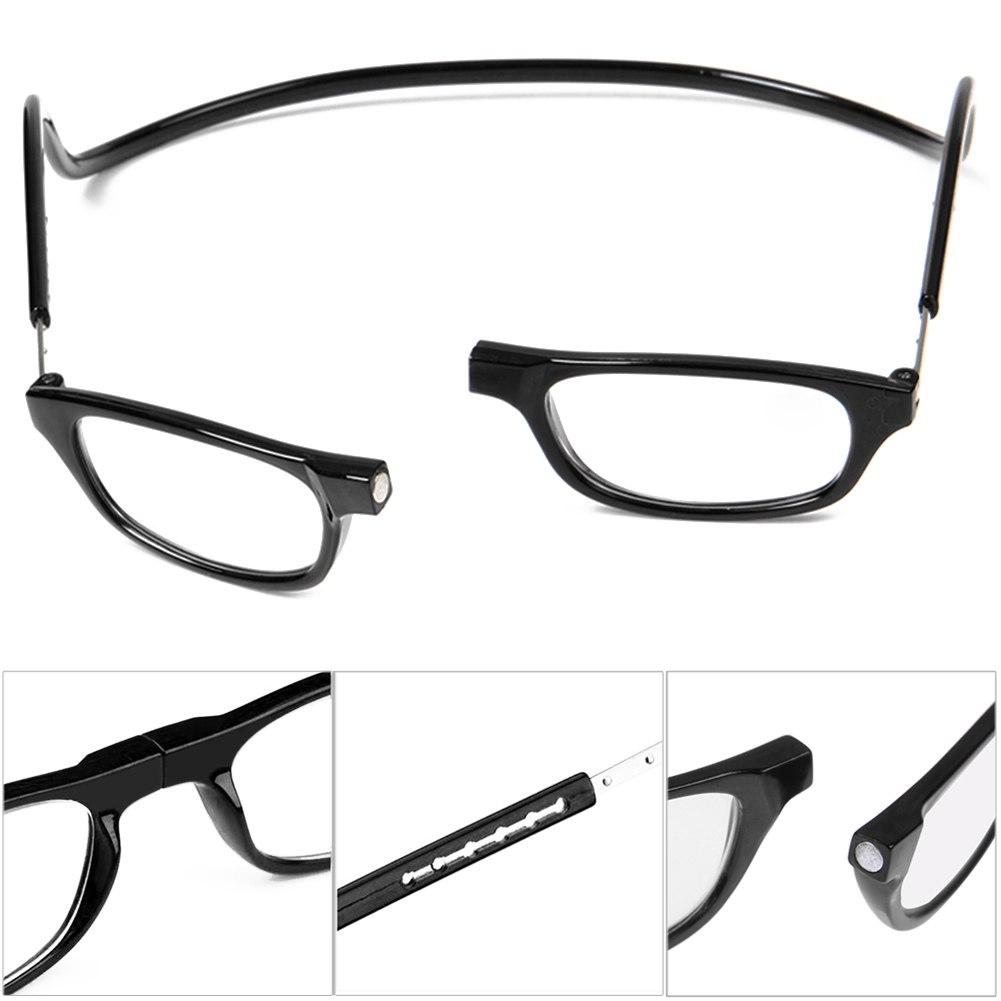 unisex magnetic power reading glasses folded hanging 1 1 5