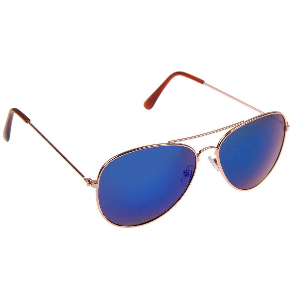 Gold Or Silver Frame Sunglasses : Hot Men Women Retro Aviator Sunglasses Reflective Lens ...