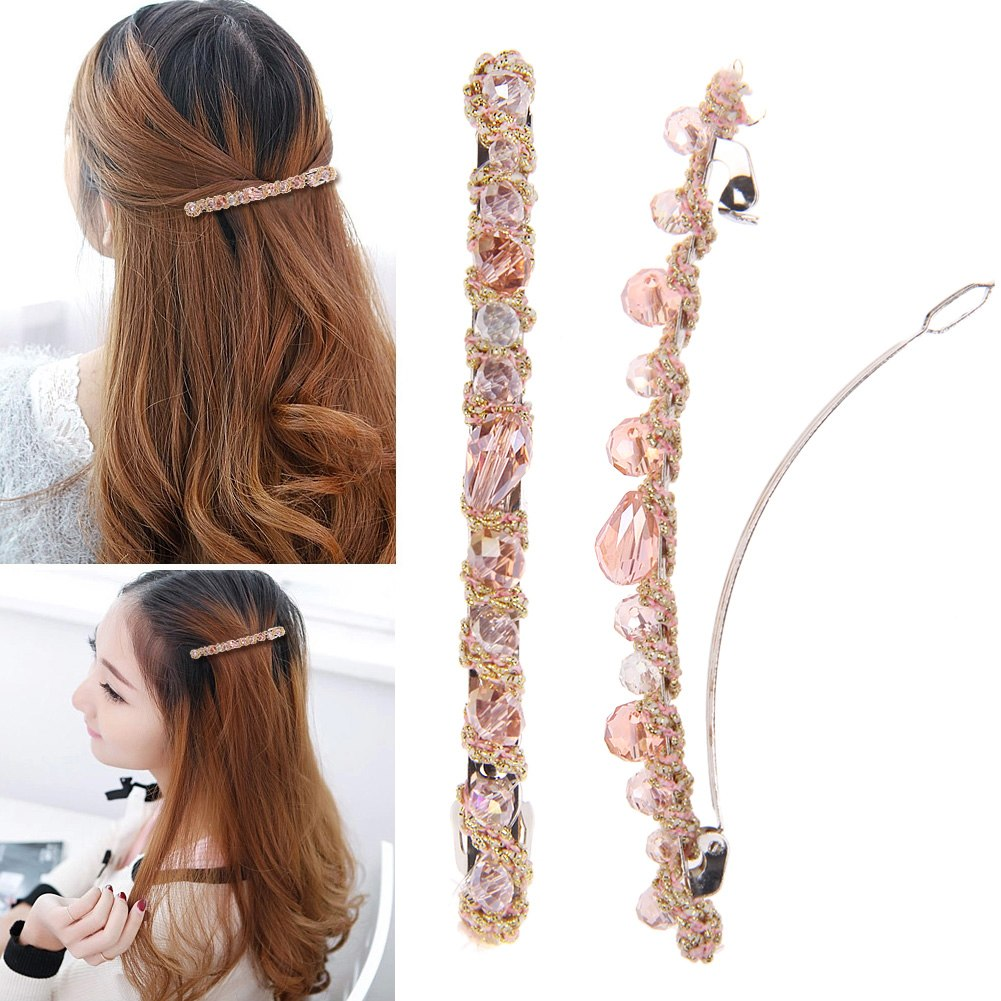 HOT! Fashion Women Girl Headwear Crystal Rhinestone Hair Clips Barrette Hairpin