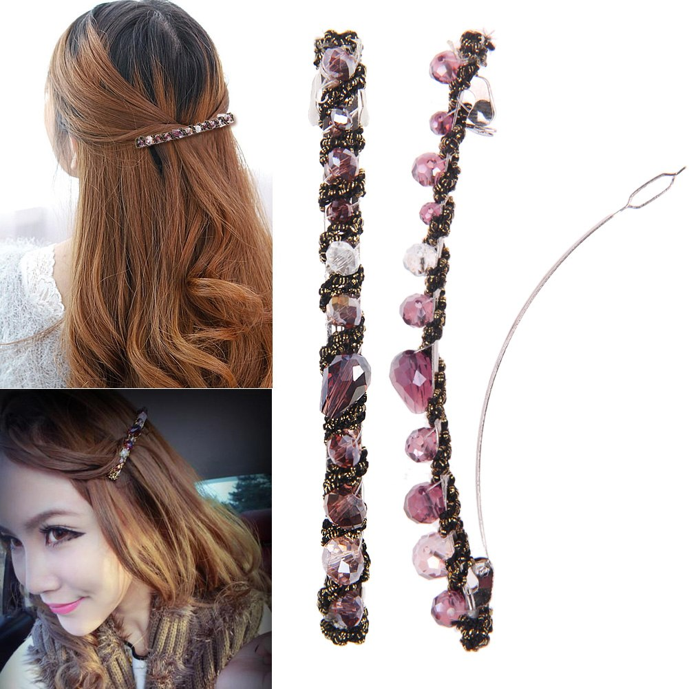 HOT! Fashion Women Girl Headwear Crystal Rhinestone Hair Clips Barrette Hairpin