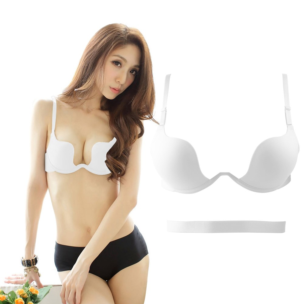 Sexy Seamless Women Underwear Support Plunge Push Up Bra 32 34 36 ...