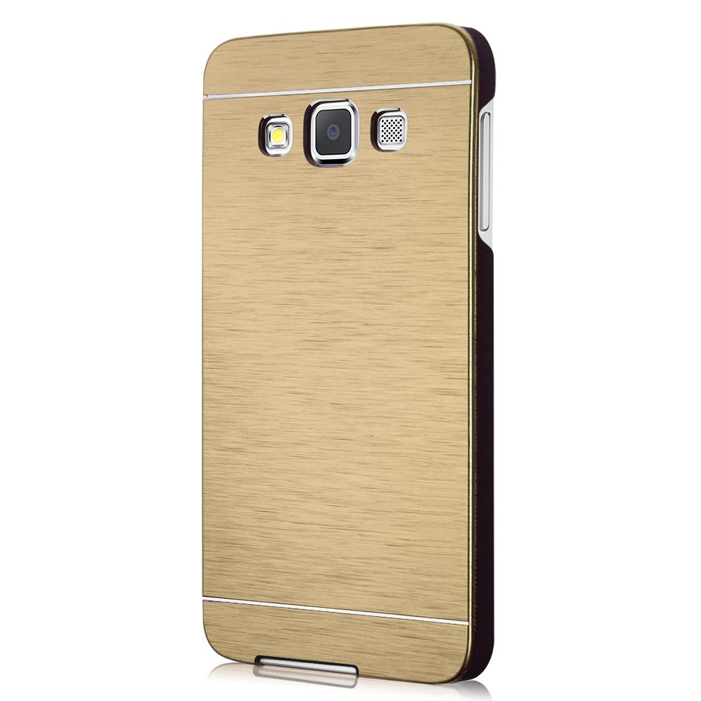 slim case metal brush aluminum skin hard back cover for samsung galaxy a3 a7 s6 ebay. Black Bedroom Furniture Sets. Home Design Ideas