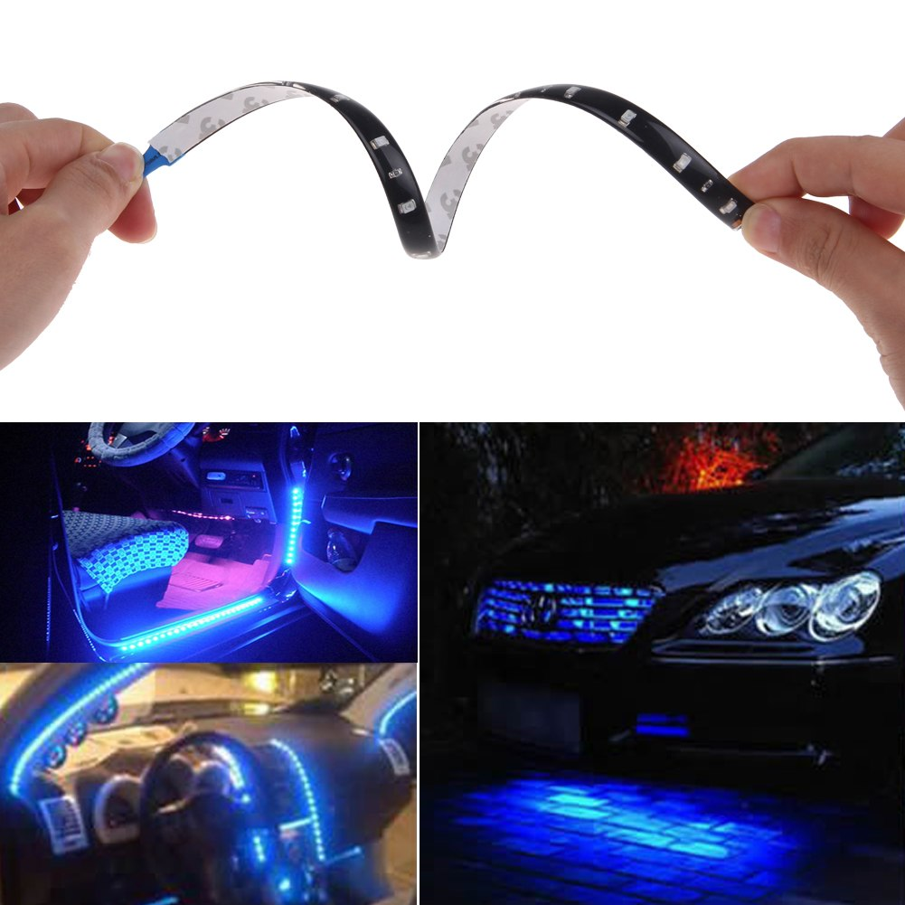 Led String Lights For Cars : 5x3020 SMD 15 Led Lamp String Waterproof Flexible Car Strip Light 30CM Blue eBay