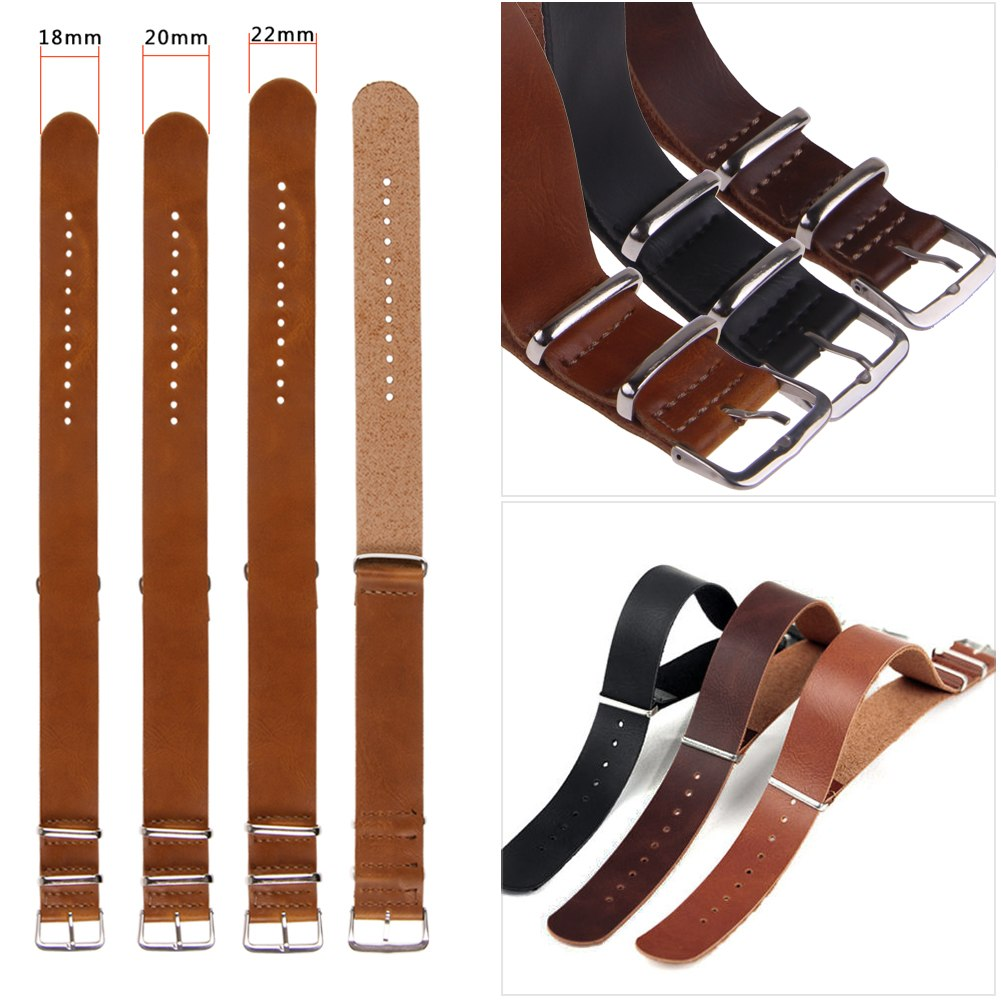 bracelet de montre en cuir femme homme 18 20 22mm boucle watch band strap ebay. Black Bedroom Furniture Sets. Home Design Ideas