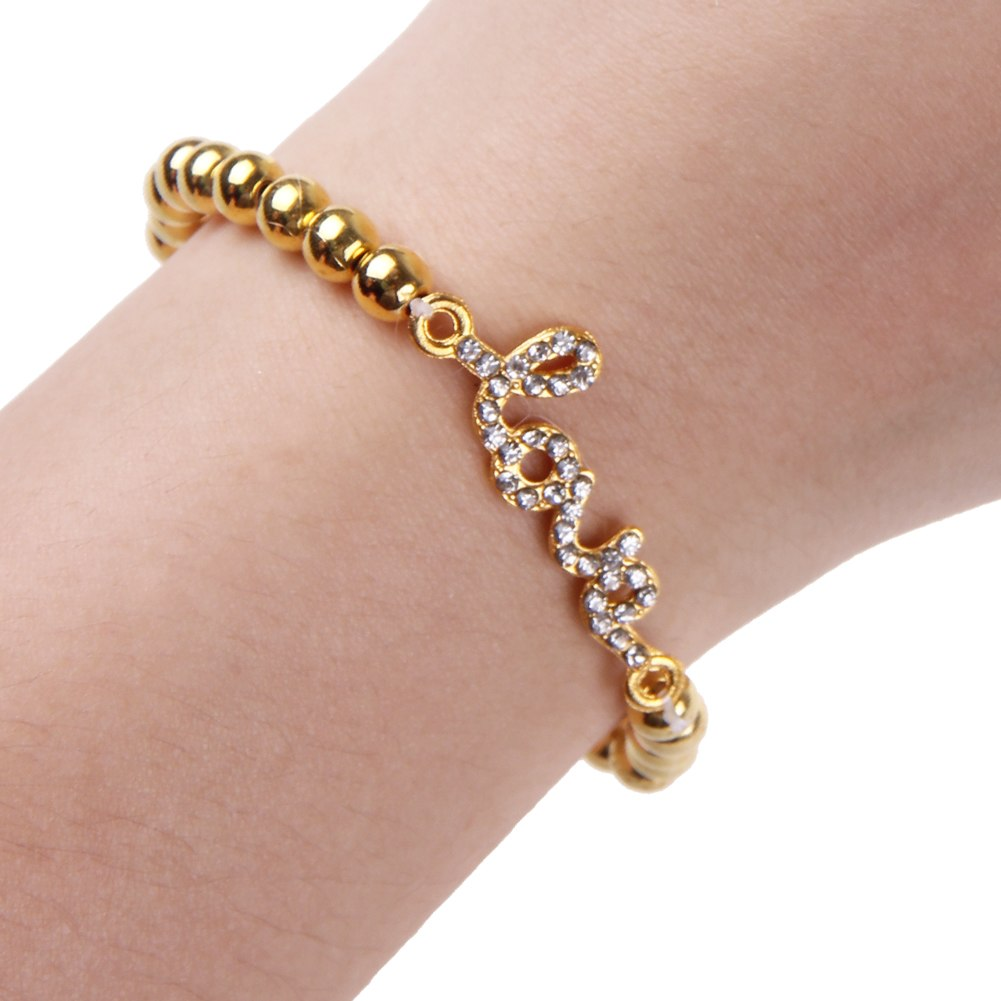 Fashion Women Jewelry Gold Silver Plated Crystal Rhinestone Charm