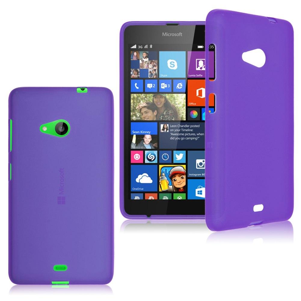 For Microsoft Nokia Lumia 535 Soft Silicone Gel TPU Case ...