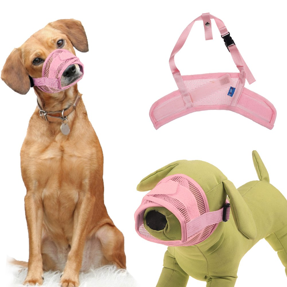dog pet safety mouth cover muzzle adjustable anti bite