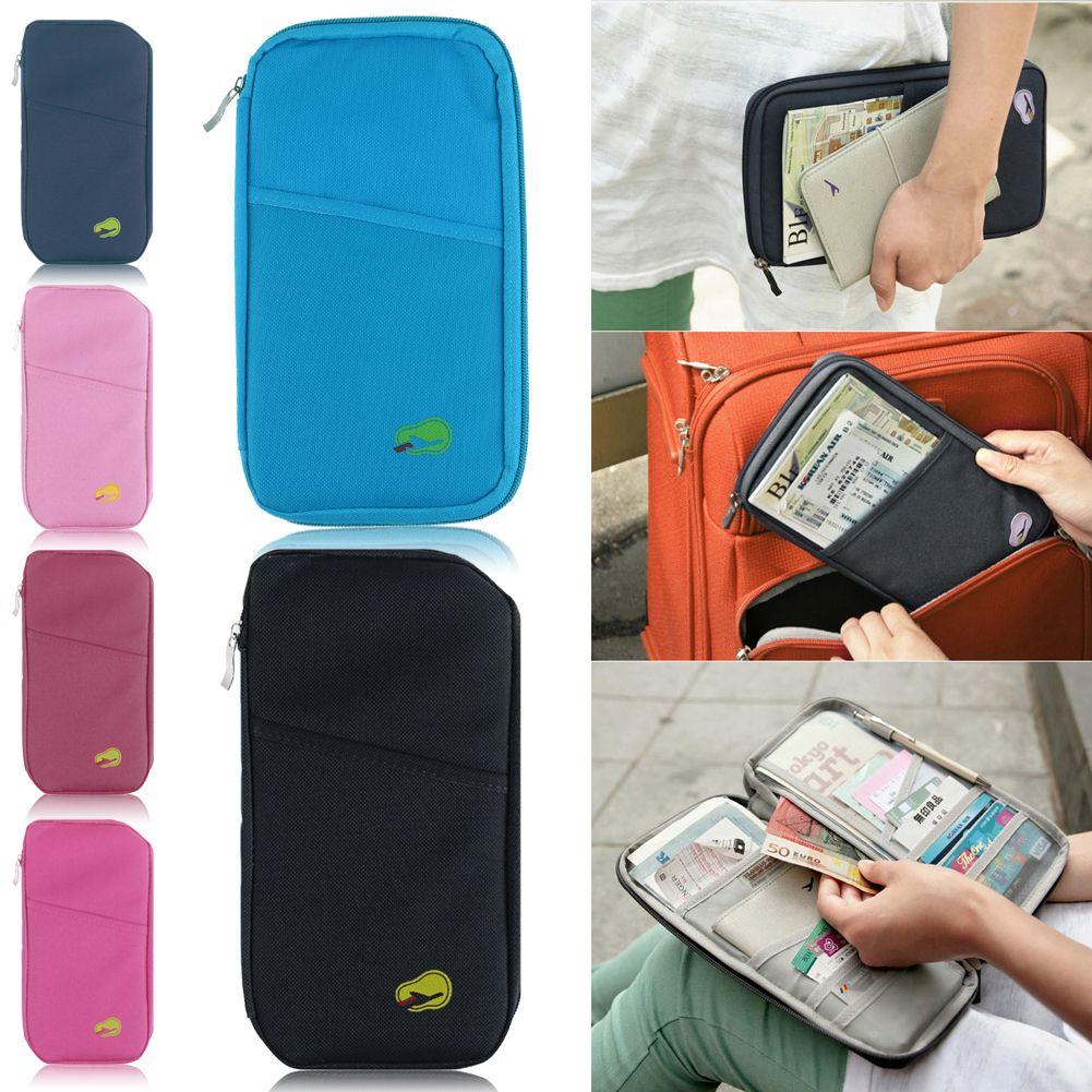 woman travel wallet passport holder document credit card organizer bag purse. Black Bedroom Furniture Sets. Home Design Ideas
