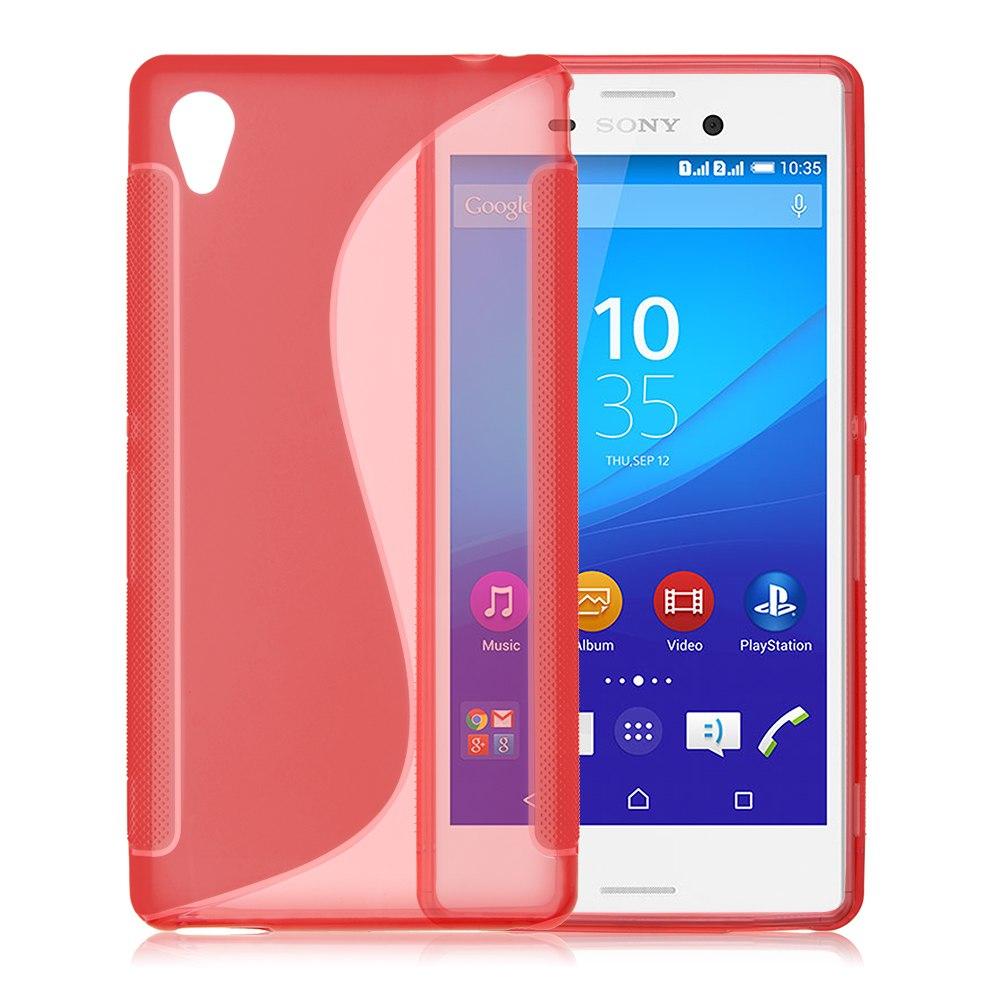 Thin S Line Wave Soft TPU Gel Silicone Case Cover Skin For Sony Xperia M4 Aqua
