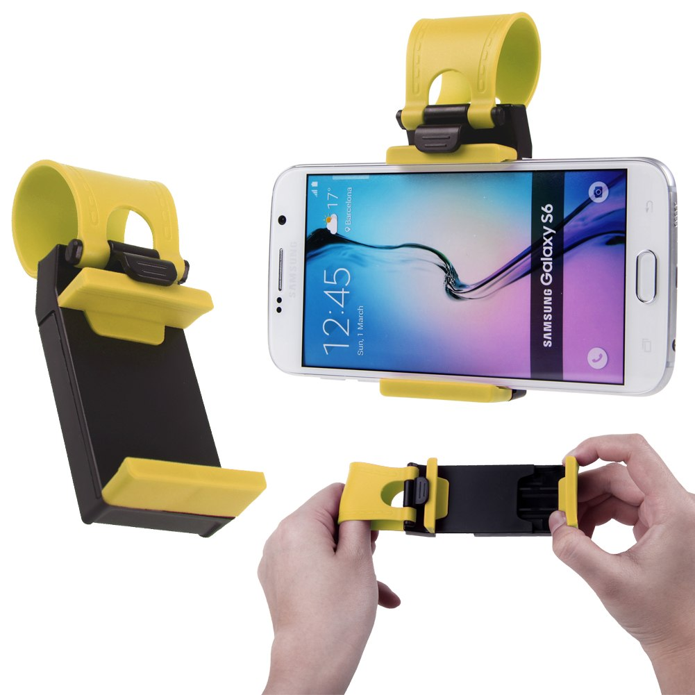 Universal Car Steering Wheel Bike Clip Mount Holder For iPhone For Cell Phones