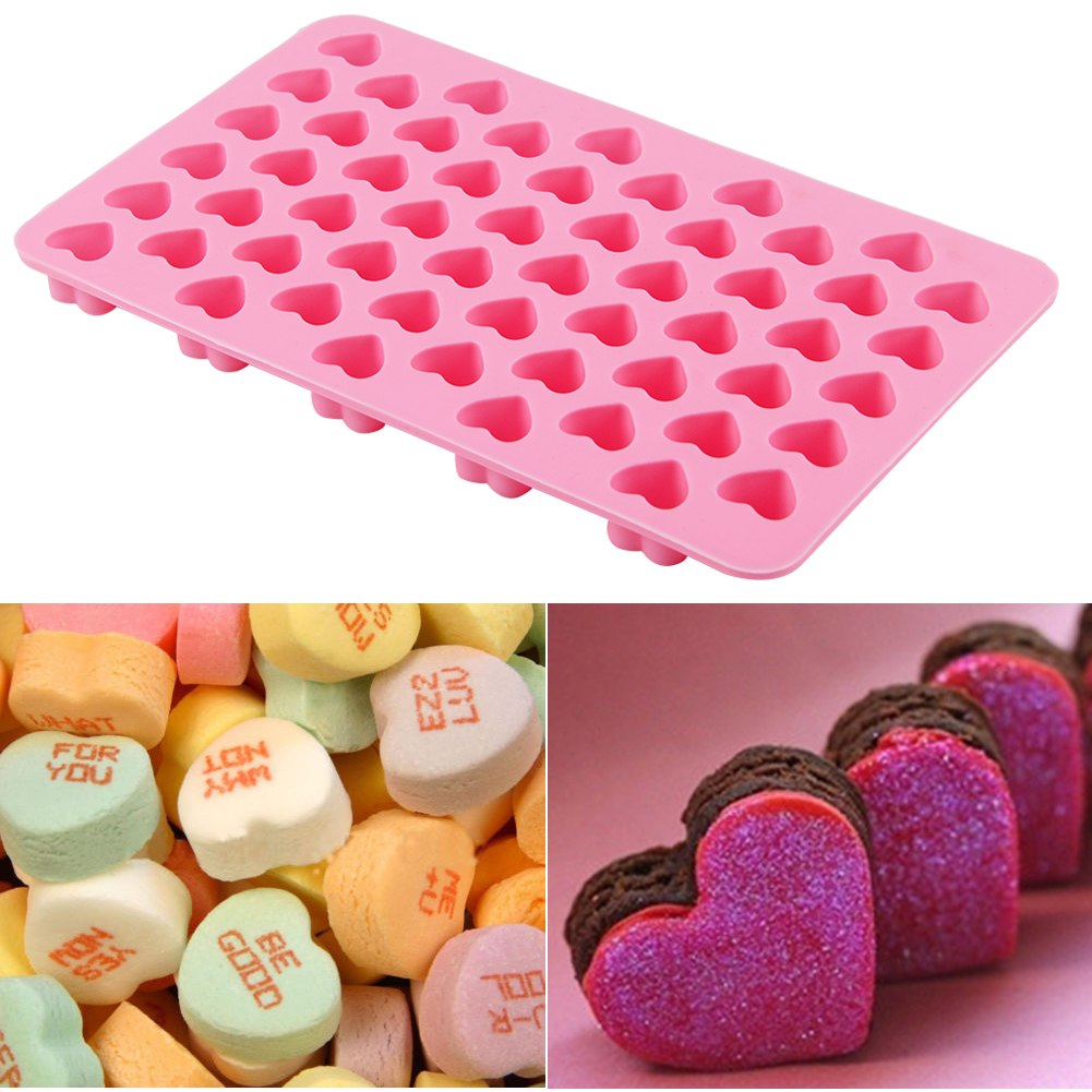 Cake Decorating With Chocolate Candy : Silicone Heart Mould Fondant Sugarcraft Chocolate Candy ...