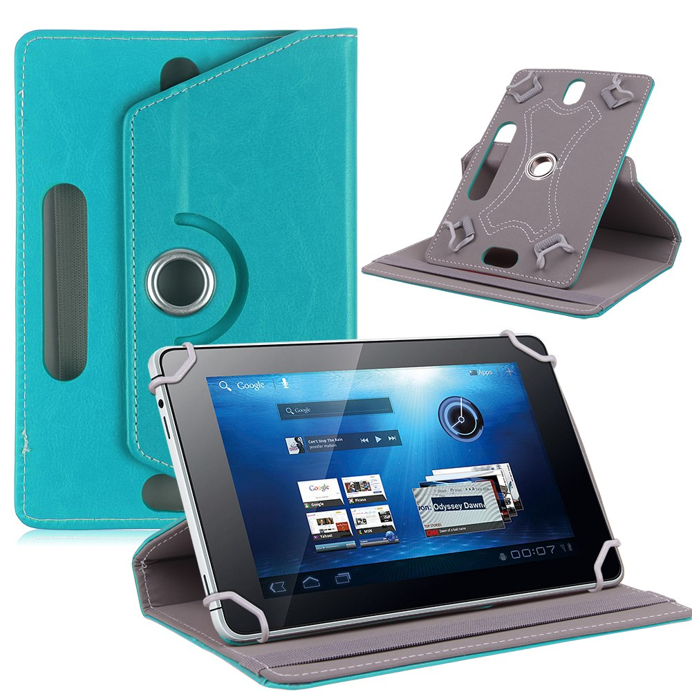 "Folio 360° Leather Case Cover For Universal Android Tablet PC 7"" 8"" 9"" 10"" 10.1"""
